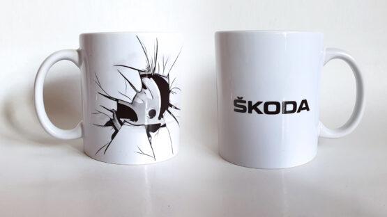 Skoda – törött logós bögre