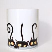 Cicás bögre (három cica)