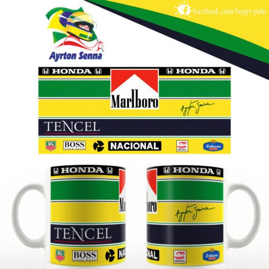 Ayrton Senna bukósisak replika