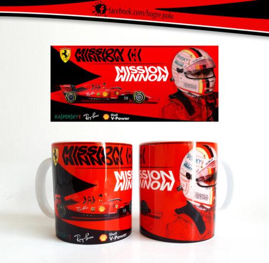 Sebastian Vettel – Ferrari SF90 F1 bögre