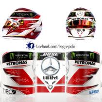 Lewis Hamilton bukósisak replika